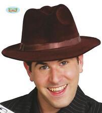 Borsalino Marrone Cowboy Carnevale Halloween Indiana Jones Freddy Krueger Teatro