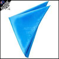 Mens Cobalt Blue Pocket Square Handkerchief men's hanky
