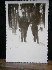 Photo argentique guerre 39 45 soldat Allemand wehrmacht WWII 2 détente dans bois