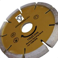 "DIAMOND DISC Mortaio RAKER puntamento 115MM 4 1/2 ""SMERIGLIATRICE"