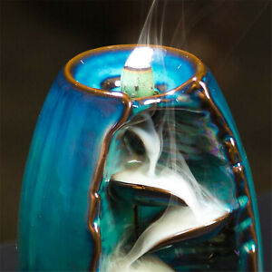 Waterfall Backflow Incense Cone Burner Holder For Living Room Decor Aromatherapy
