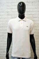 Polo Maglia Rosa Chiaro Uomo LACOSTE Taglia 4 ( L ) Manica Corta Shirt Men Top