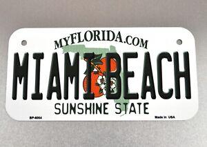 USA Florida Miami Beach Fahrrad Nummernschild License Plate Deko Blechschild
