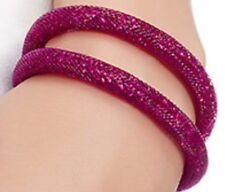 Swarovski Crystal Stardust Fuchsia  Double Bracelet SWAROVSKI JEWELRY NIB