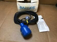 Barnes Pumps Mercury Level Float Switch 73612