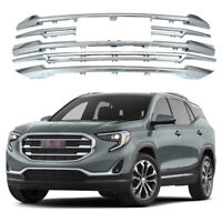 For 2018-2021 GMC Terrain Grille Overlay Front Grill Trim Covers Chrome ABS