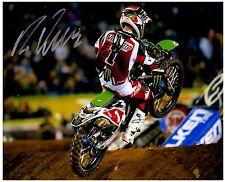 "RYAN VILLOPOTO Signed Autographed SUPERCROSS Motocross ""AMA"" 8x10 Photo D"