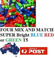 4 X T5 SMD LED MIX N MATCH BLUE GREEN RED T5 T6.5 Holden Ford Toyota Mazda