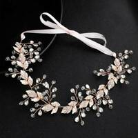 Wedding Dress Headband With Alloy Leaf HairBand Bride Jewelry Hair Accessories n