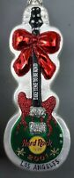 Vtg Hard Rock Cafe Christmas Ornament 2001 Los Angeles Guitar Time to Be Kind