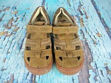 5c49cca10e58d CLARKS Brown Leather Fisherman Closed Toe Sandals Shoes Kid's Size: 12