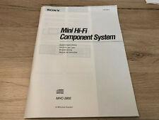 Unbenutzt Originale Sony Bedienungsanleitung für MHC-3800  guter Zustand