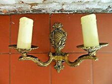 Double Candle Drip  Attractive  Brass Wall Light