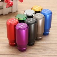 5 Speed Manual Universal Gear Shift Knob Long Bar Aluminum Neo Chrome &