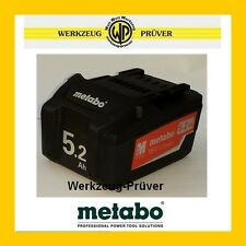 METABO Extreme Akku-Pack 18V 5,2 AH Neu Ersatzakku z.KSA BS SSW SSD STA BSA W SB
