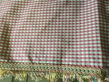 "PRETTY AUSTRIAN COUNTRY CURTAINS VALANCE,ROSE,GREEN&IVORY CHECK 81""WIDE"