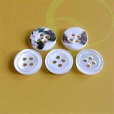 15 Real Trocas Yoko Ocean Pearl Shell Sewing Shirt Buttons 10mm Natural D132