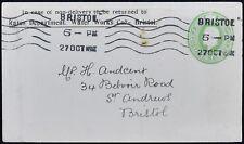 GB KGV Pre-Paid Stationery Cover, Bristol Postmark #C49615