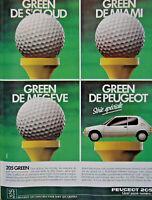 PUBLICITÉ DE PRESSE 1989 PEUGEOT 205 GREEN QUEL SACRÉ NUMÉRO - BALLE GOLF