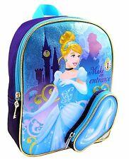 Disney Cinderella Kids Backpack Princess Slippers 11 x 9 inches School Mini Bag