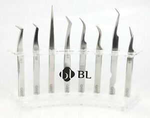 QBS® Stainless Steel Anti-Magnetic Lash Tweezers For Eyelash Extensions