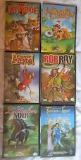 Lot de 6 DVD Dessin Animée Ivanhoé, l'étalon noir...
