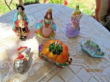 POLONAISE KOMOZJA ORNAMENT SET 6 CINDERELLA,PRINCE,GODMOTHER,SLIPPER,COACH,MOUSE