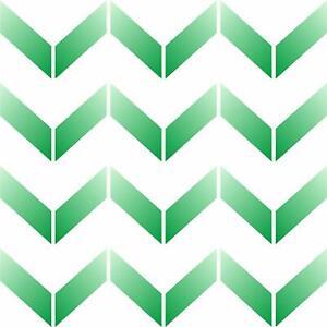 Chevron Wall Stencil Reusable Herringbone Allover Pattern Template Wall Fabric