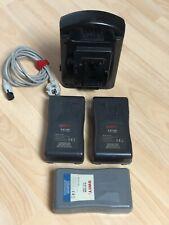 SWIT V-Mount 2-fach Ladegerät inkl 3 x SWIT S-8110S Akkus für Sony PDW PMW PXW