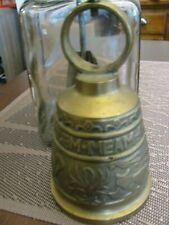 Antique Brass Bell Vocem-Meam-A Ovime Tangit