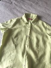 Natural Wave 100% Lino Lime Verde Blusa Taglia 4 Immacolata