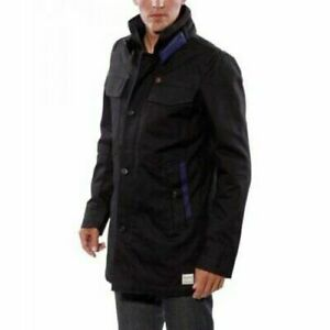 G-STAR SP8205 BLACK FAHION COAT WILL GARBER TRENCHCOAT NOW £100