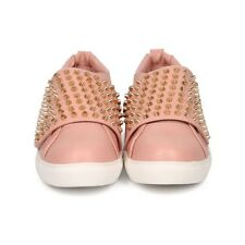 New Womens Liliana Dusty Pink  Chic Stud Sneakers Size 6.5