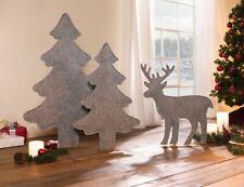 """Rentier """"Filz"""" aus Filz grau Tier Deko Figur Elch Weihnachtsdeko Hirsch Tisch"""