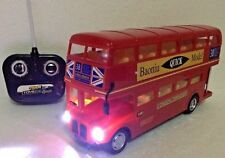 1:16 RC Remote Control London Transport Double Decker Red Bus LED Light Kids Toy