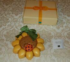 Thun - Formella fiore e coccinella, diam 15 cm, con scatola, nuova