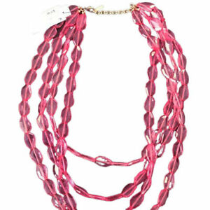 Sugarfix by Baublebar Clear Pink Chunky Beaded Necklace