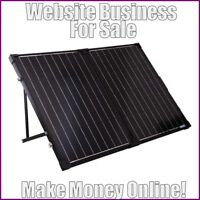 SOLAR PANELS Website Earn £88 A SALE|FREE Domain|FREE Hosting|FREE Traffic