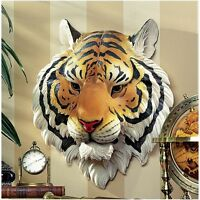 "Design Toscano Exclusive 14½"" Indochinese Tiger Hand Painted Wall Sculpture"