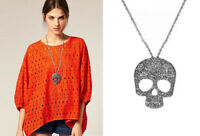 Women's Korean Style Fashion Unisex Skull Pendant Necklace with Chain