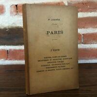 Paul Joanne Führt Sonderauflage Plan De Paris Mit Karten 3e Teil S.D