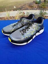 Hoka One One Infinite Men's US 11 Running Shoes, Grey/Citrus, 1009648
