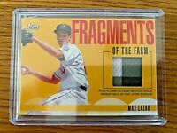 MAX LAZAR 2020 Topps Pro Debut FRAGMENTS OF THE FARM Relic Brewers Prospect