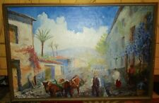 OOC Original Frame Mexican Impressionism Painting Artist Signed