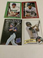 Mike Trout 4 Card Rookie Lot Angels