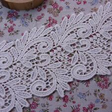 "Gorgeous Embroidered Cotton Lace Trim Ivory 4""(10cm) Wide 1yard"