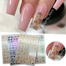 3D Nail Stickers Butterfly Transfer Decals Nail Art Decoration Accessories Diy