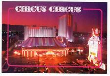 1990's Circus Circus Hotel and Casino Las Vegas Neon Sunset postcard Vintage M