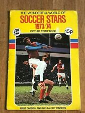 Album figurine fks SOCCER STARS 1973 74 COMPLETE football sticker wc no panini