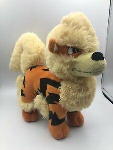 Official Tomy Pokemon Arcanine Growlithe Dog Plush Stuffed Toy Animal Nintendo